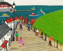 Barry Stokes (Northern British Contemporary): 199 Steps Whitby