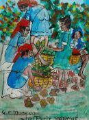 Gervais Emmanuel Ducasse (Haitian 1903-1986): 'Un Petit Marche'
