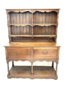 Georgian style oak pot board dresser