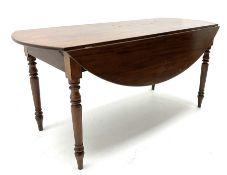 19th century mahogany drop leaf table