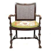 Early 20th century beech framed armchair