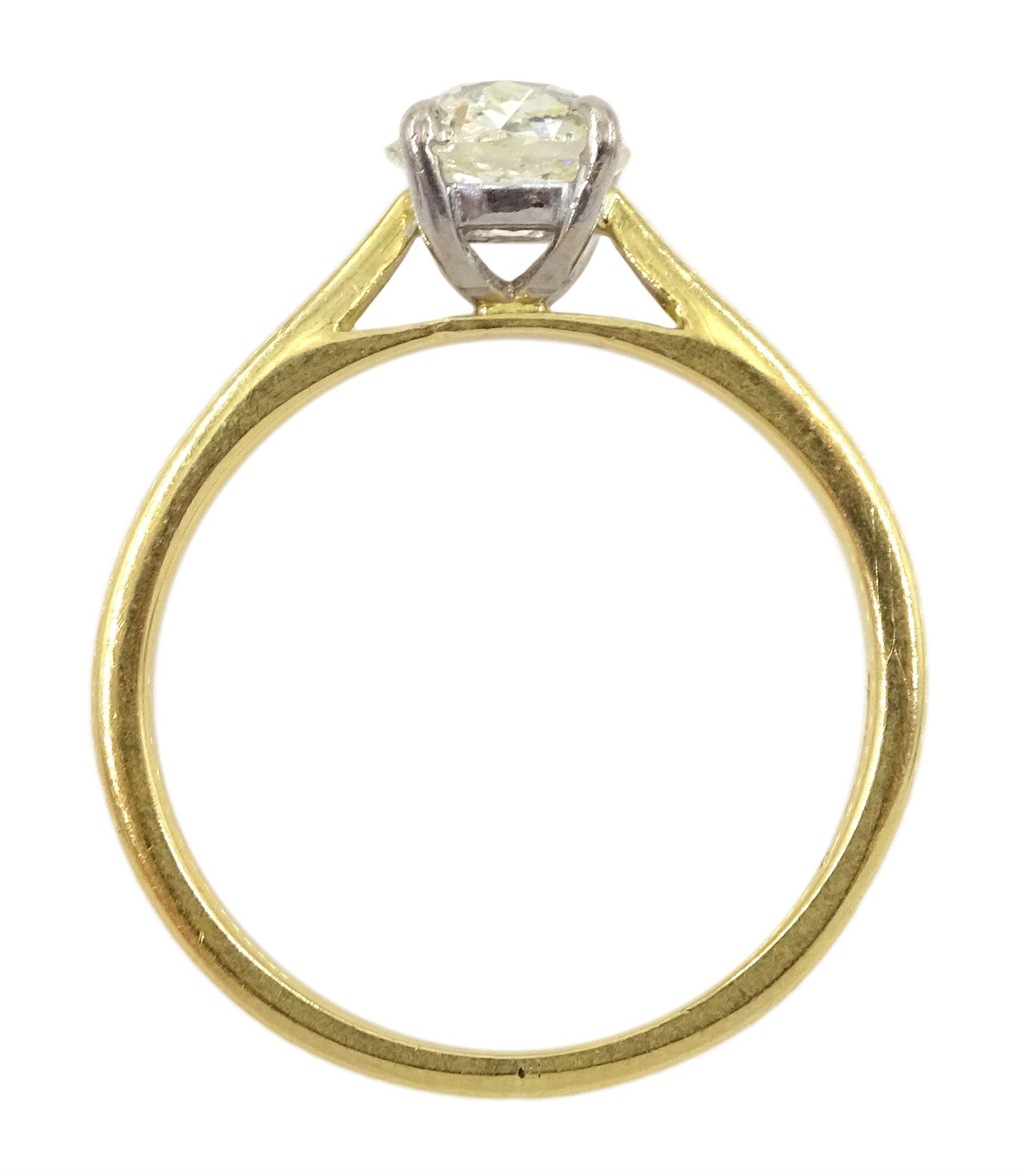 18ct gold single stone old cut diamond ring - Image 4 of 4