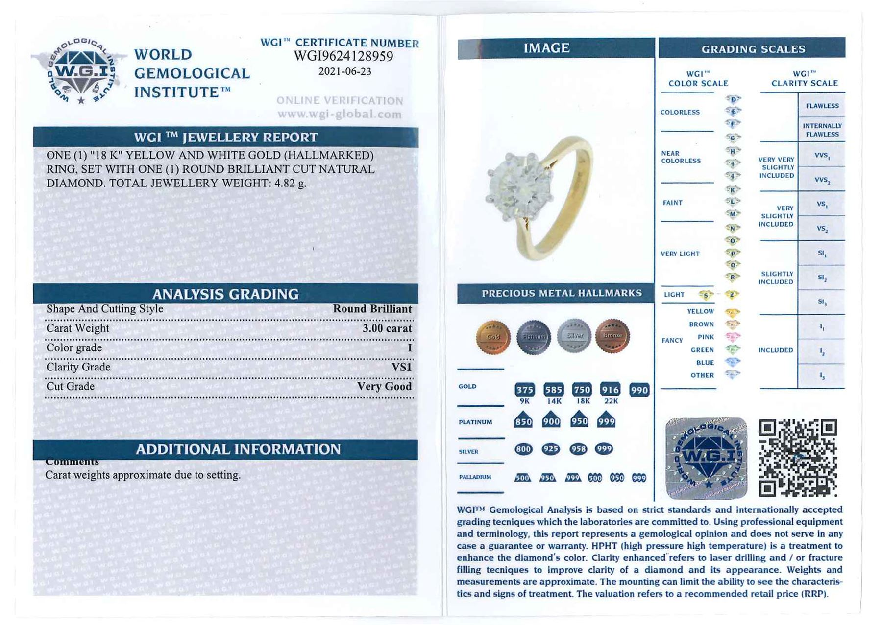 18ct gold round brilliant cut diamond ring - Image 2 of 7