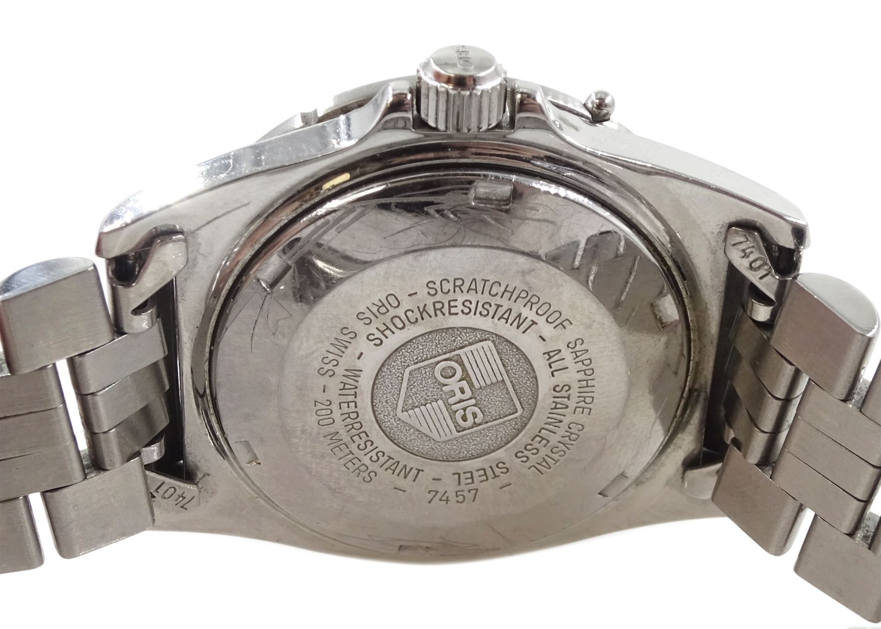 Oris automatic stainless steel divers wristwatch - Image 2 of 2