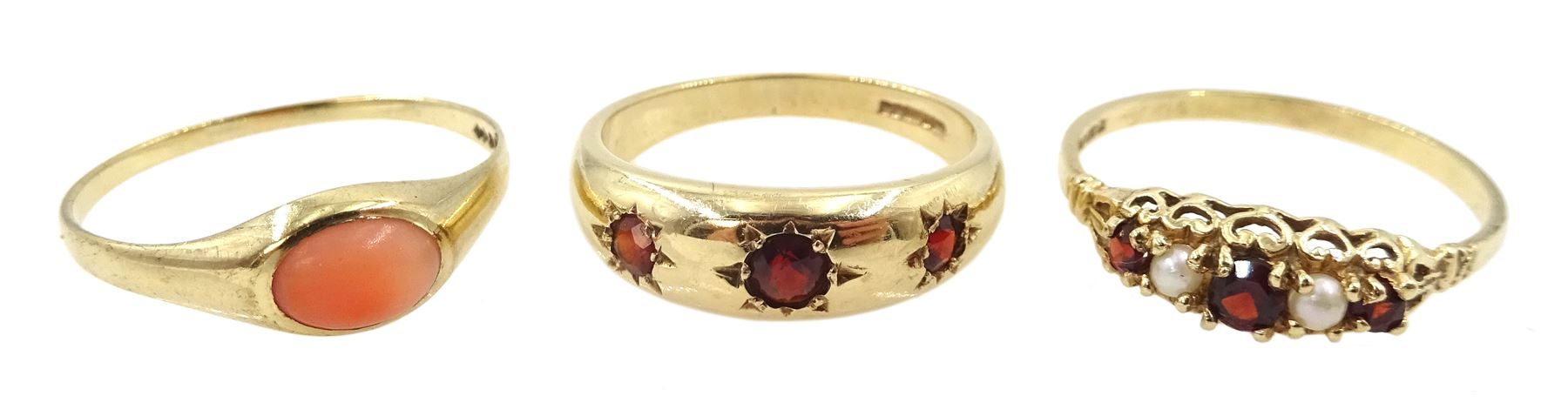 Gold coral ring
