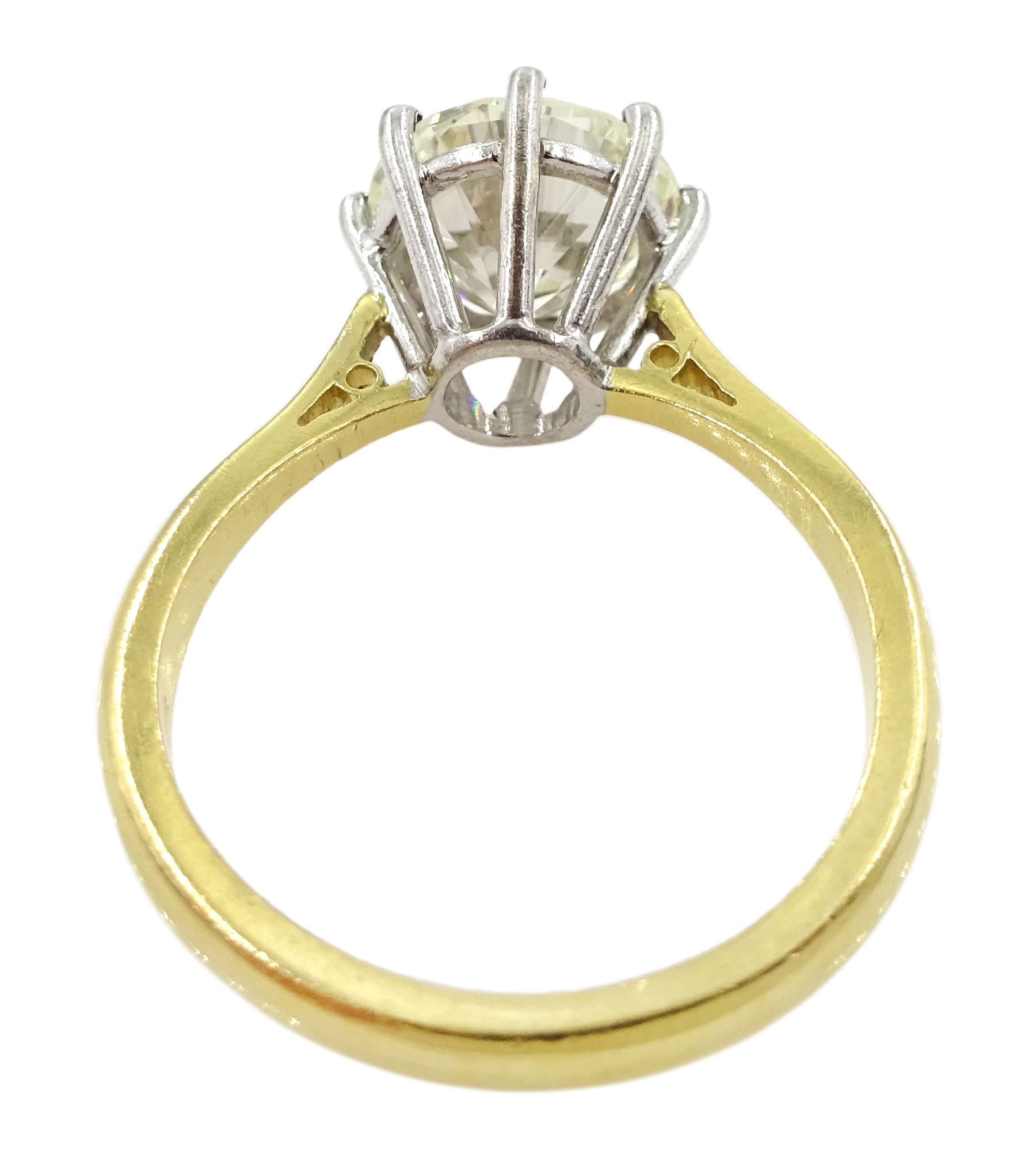 18ct gold round brilliant cut diamond ring - Image 4 of 7