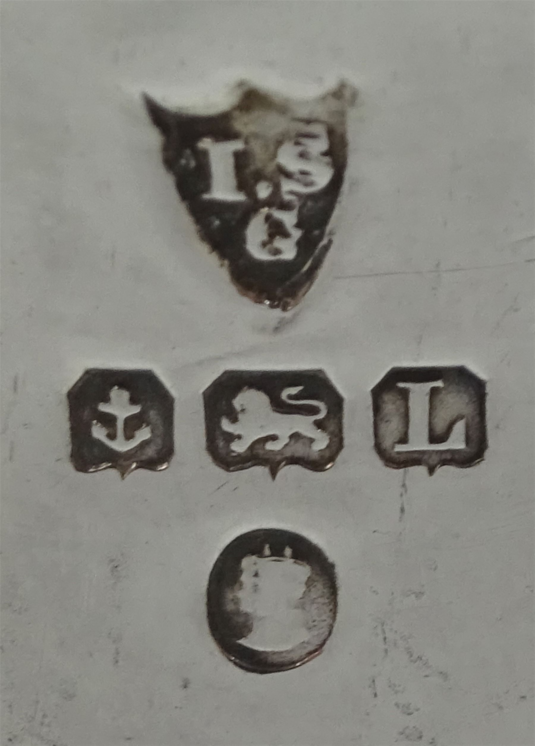 Three piece cruet set by I S Greenberg & Co - Image 4 of 4
