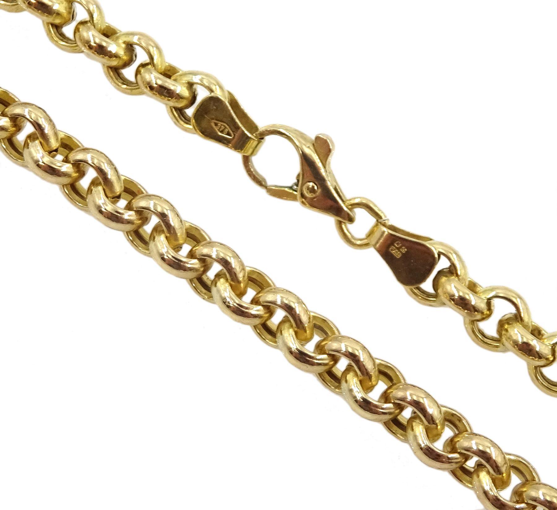 9ct gold belcher link necklace - Image 3 of 3