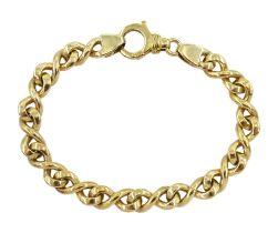 9ct gold figure of eight link bracelet