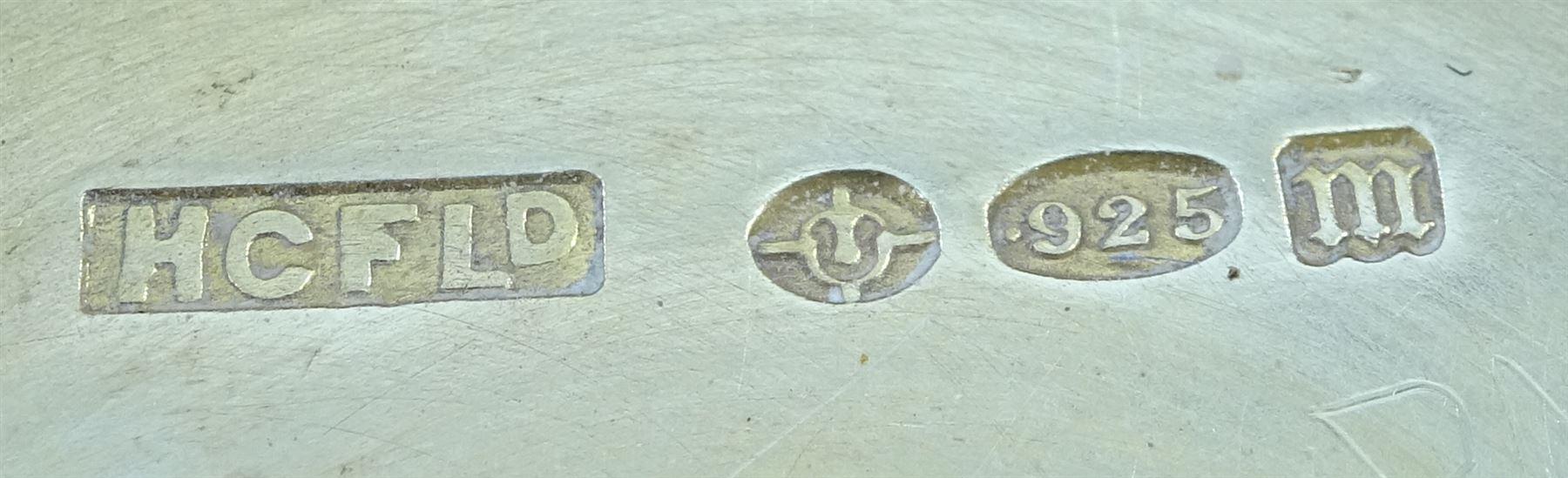 Silver enamel circular compact - Image 2 of 4