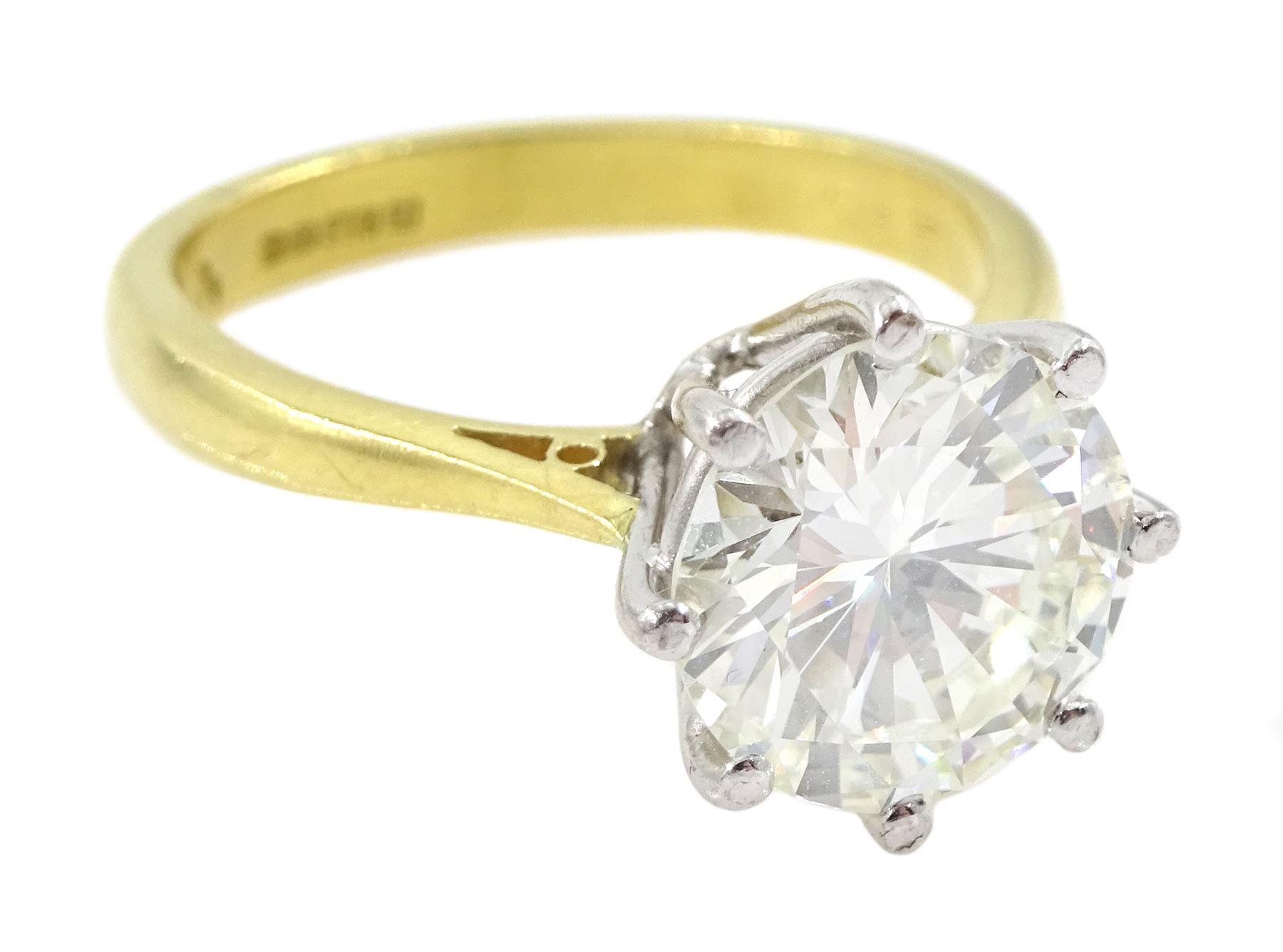 18ct gold round brilliant cut diamond ring - Image 7 of 7