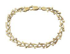 9ct gold link bracelet hallmarked