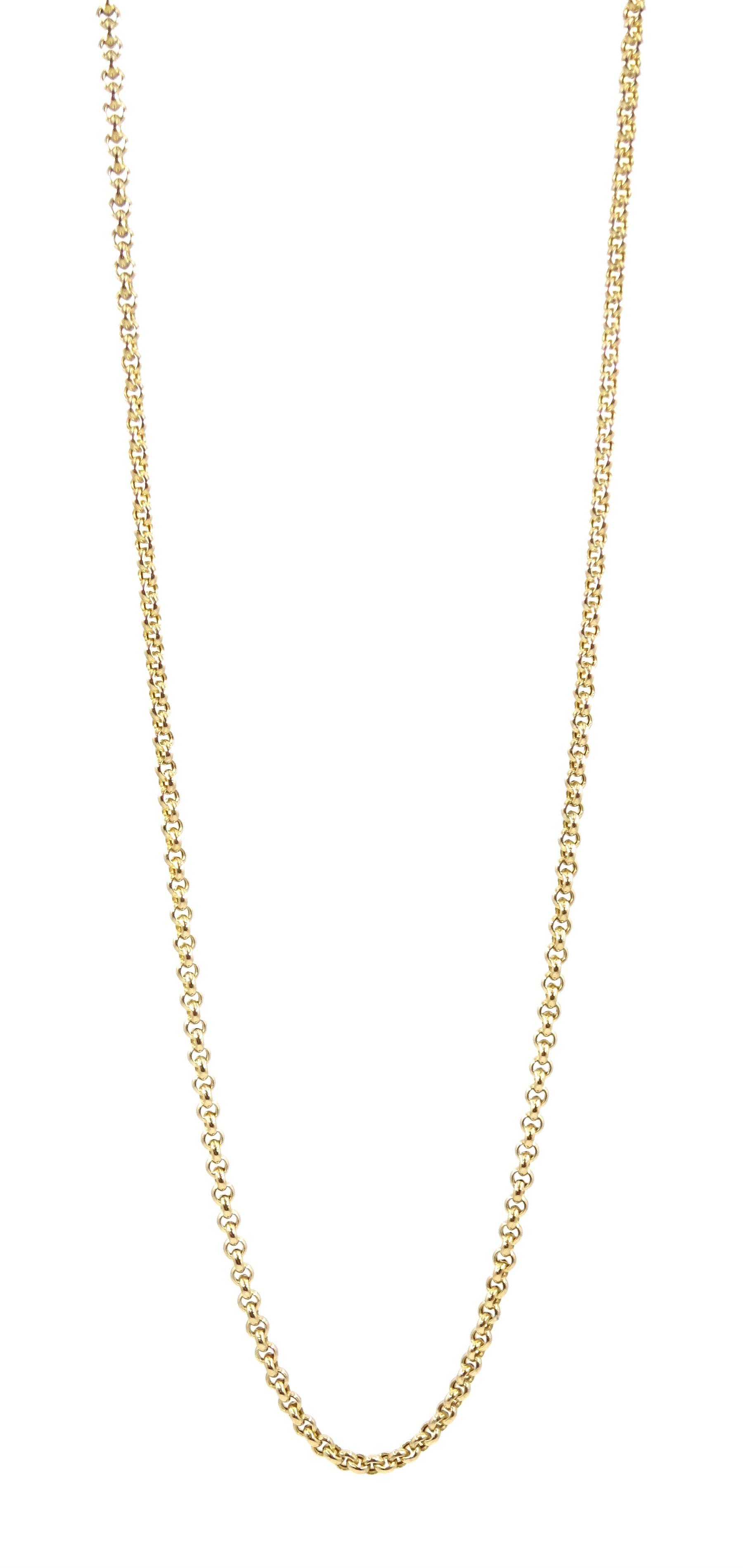 9ct gold belcher link necklace
