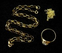 Gold cubic zirconia ring