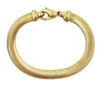 9ct gold herringbone link bracelet
