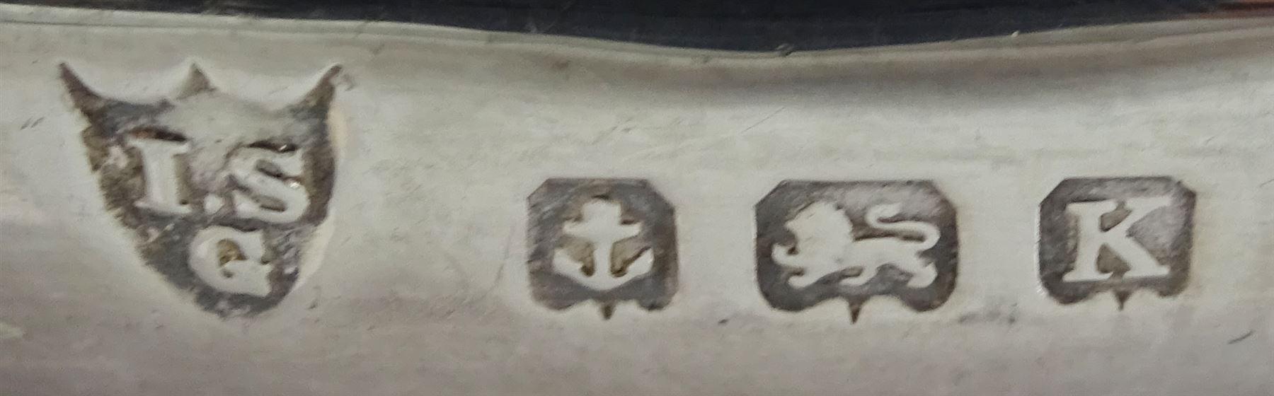 Three piece cruet set by I S Greenberg & Co - Image 3 of 4