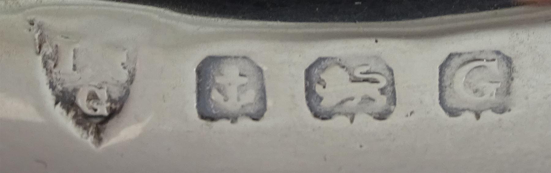 Three piece cruet set by I S Greenberg & Co - Image 2 of 4