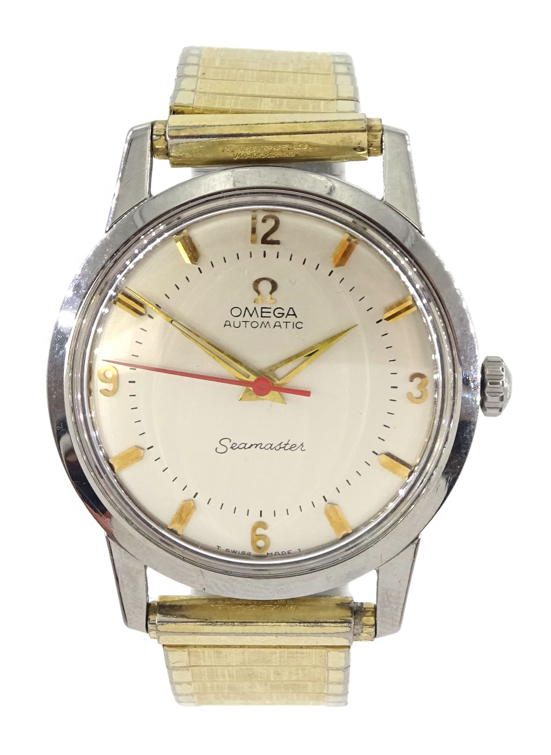 Omega Seamaster automatic gentleman's stainless steel wristwatch