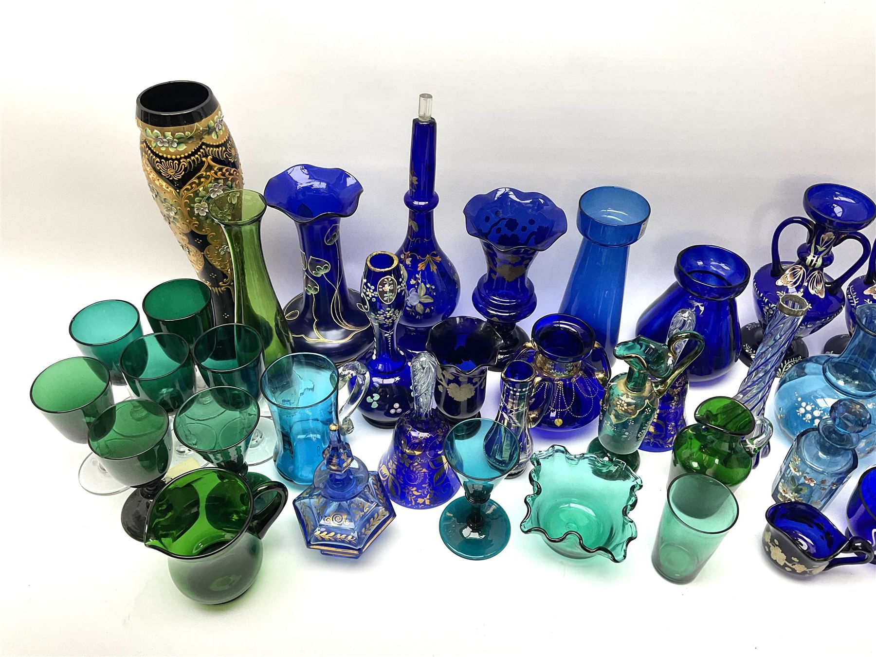 A group of 19th century and later coloured glassware - Image 2 of 3
