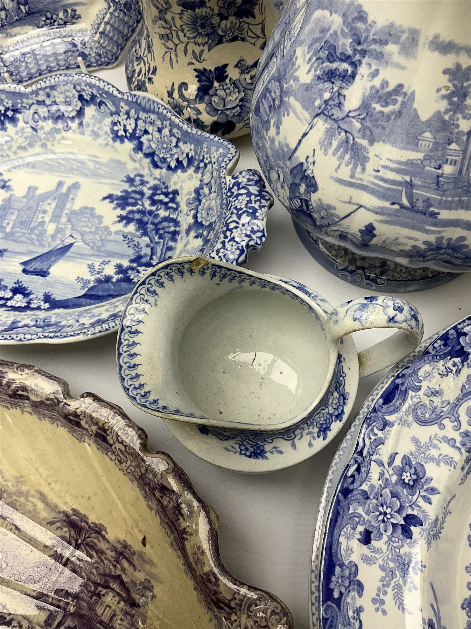 A group of 19th century blue and white transfer printed pottery - Image 2 of 7
