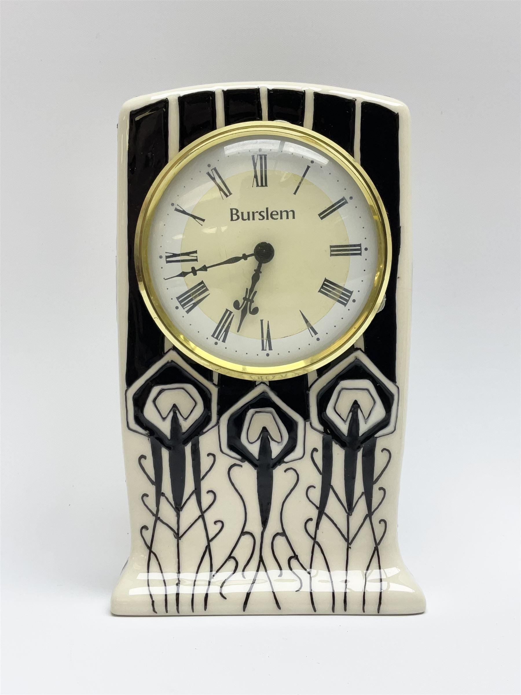 A Moorcroft mantle clock