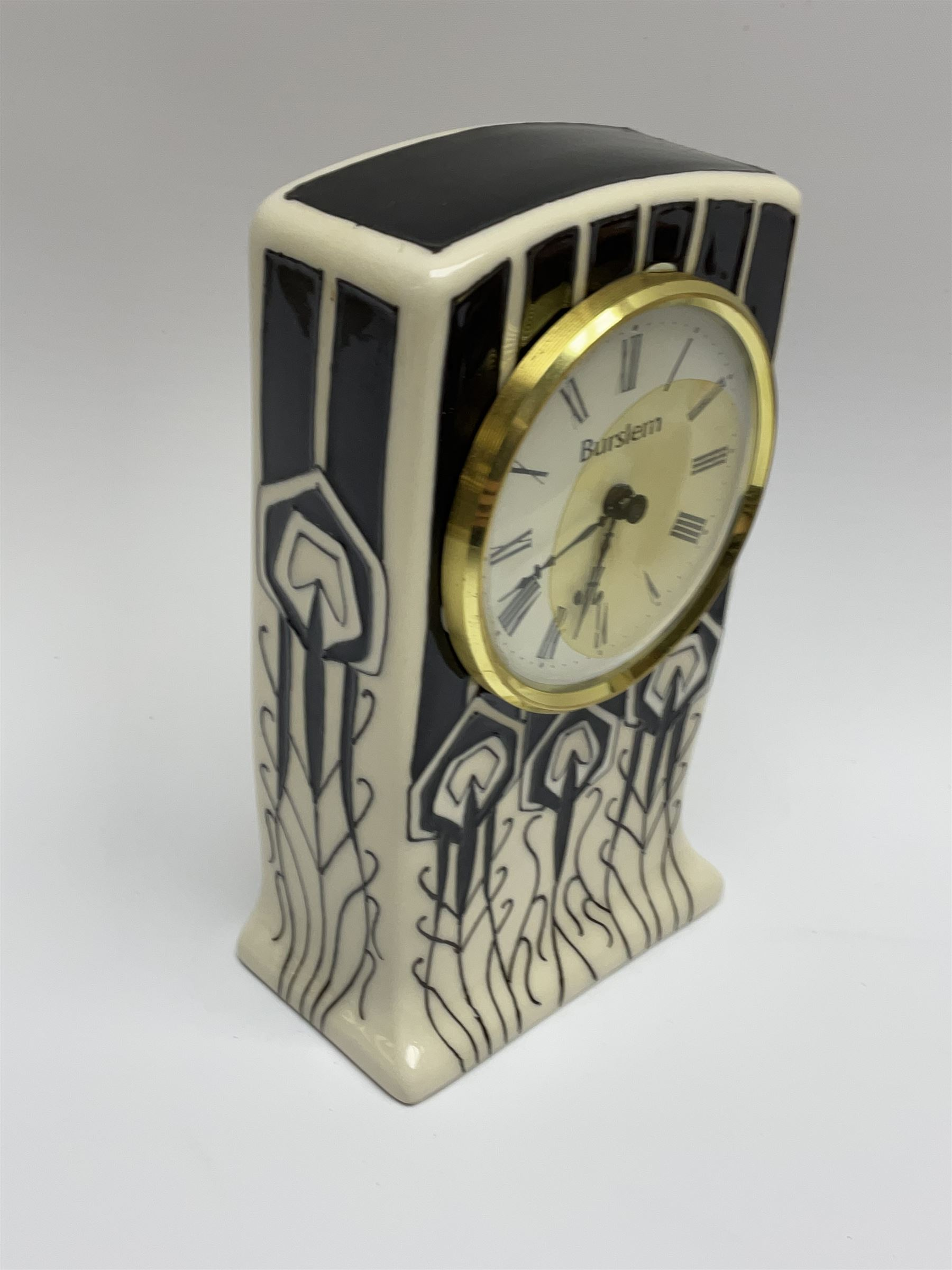 A Moorcroft mantle clock - Image 2 of 5