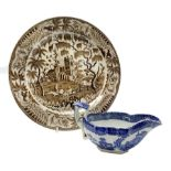 Early 19th century David Dunderdale & Co Castleford pottery plate