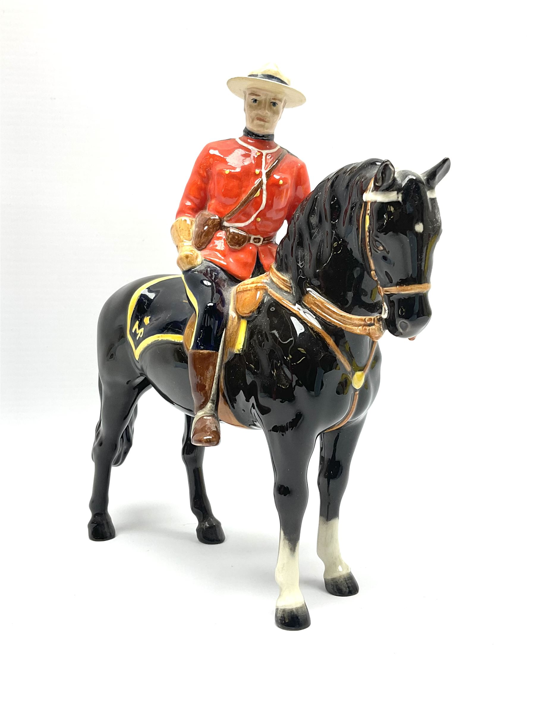 A model of a Canadian Mountie on horseback