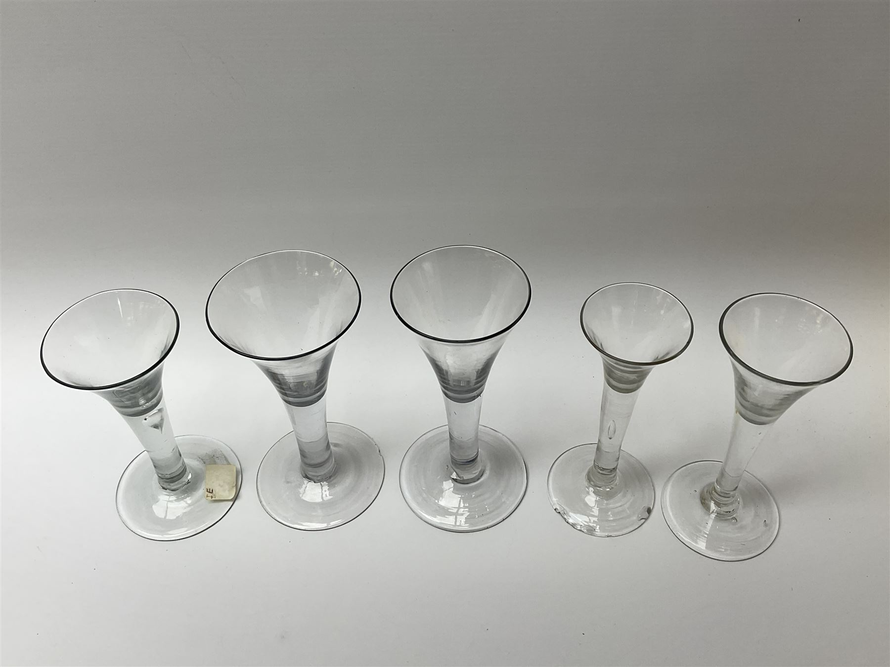 Five 18th century drinking glasses - Image 3 of 3