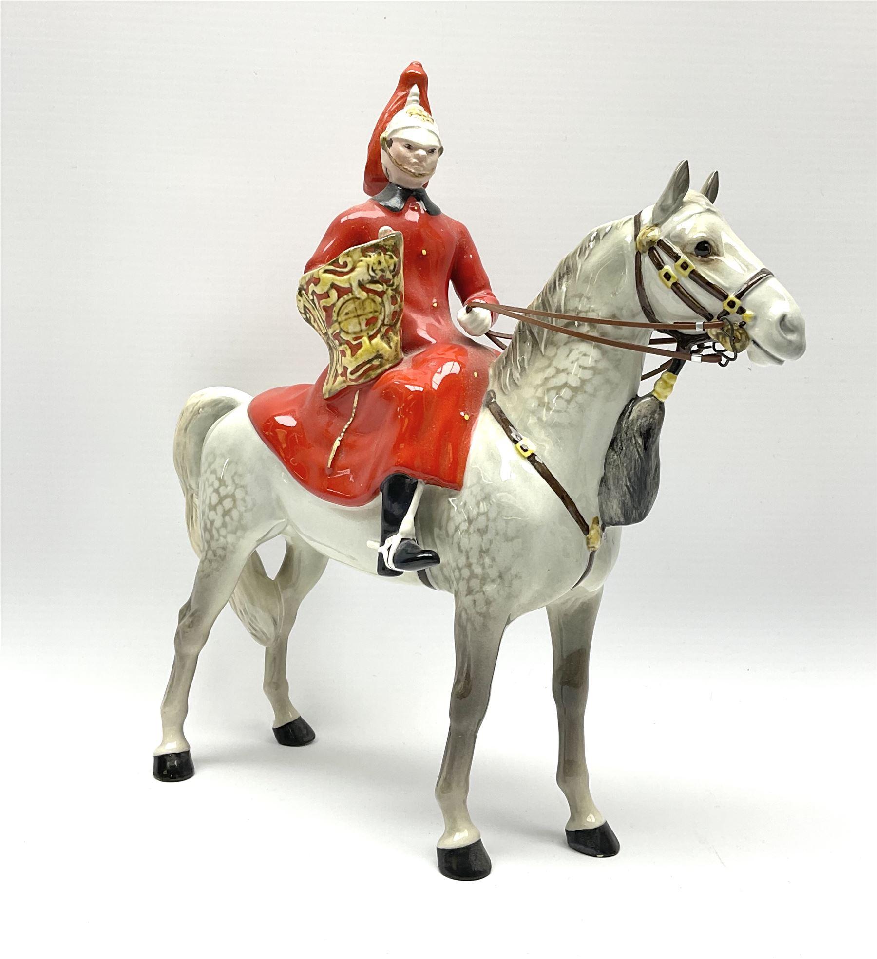 A Beswick model of Lifeguard on grey horse