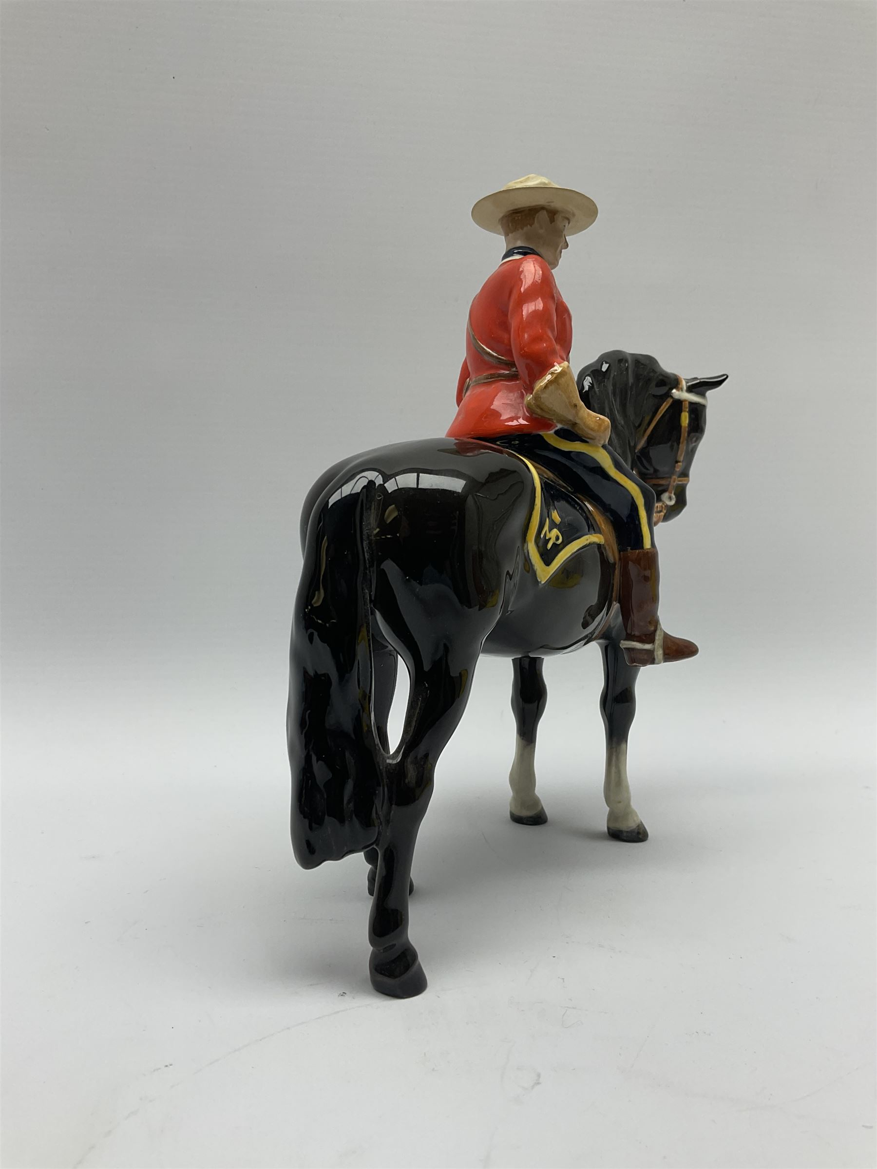 A model of a Canadian Mountie on horseback - Image 5 of 6