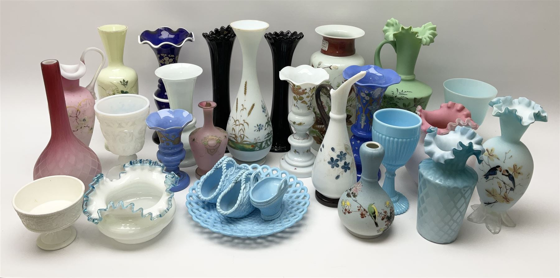A group of mostly Victorian glassware