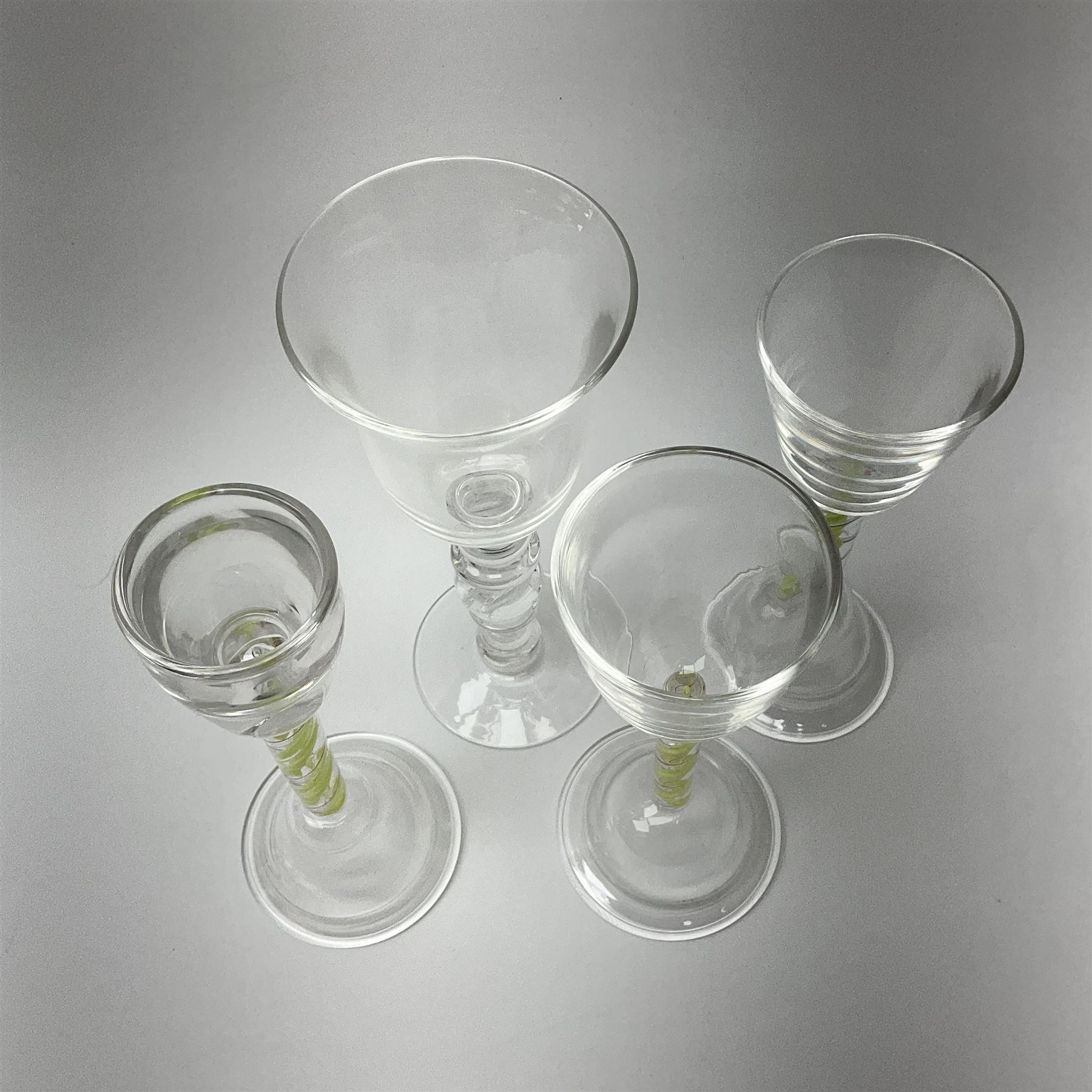 Six late 20th century Paul Manson Shilbottle Glass Studio drinking glasses - Image 2 of 4