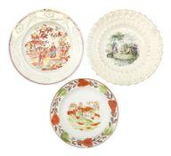 Three 18th/19th century nursery plates