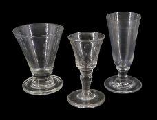 Large 19th century firing glass