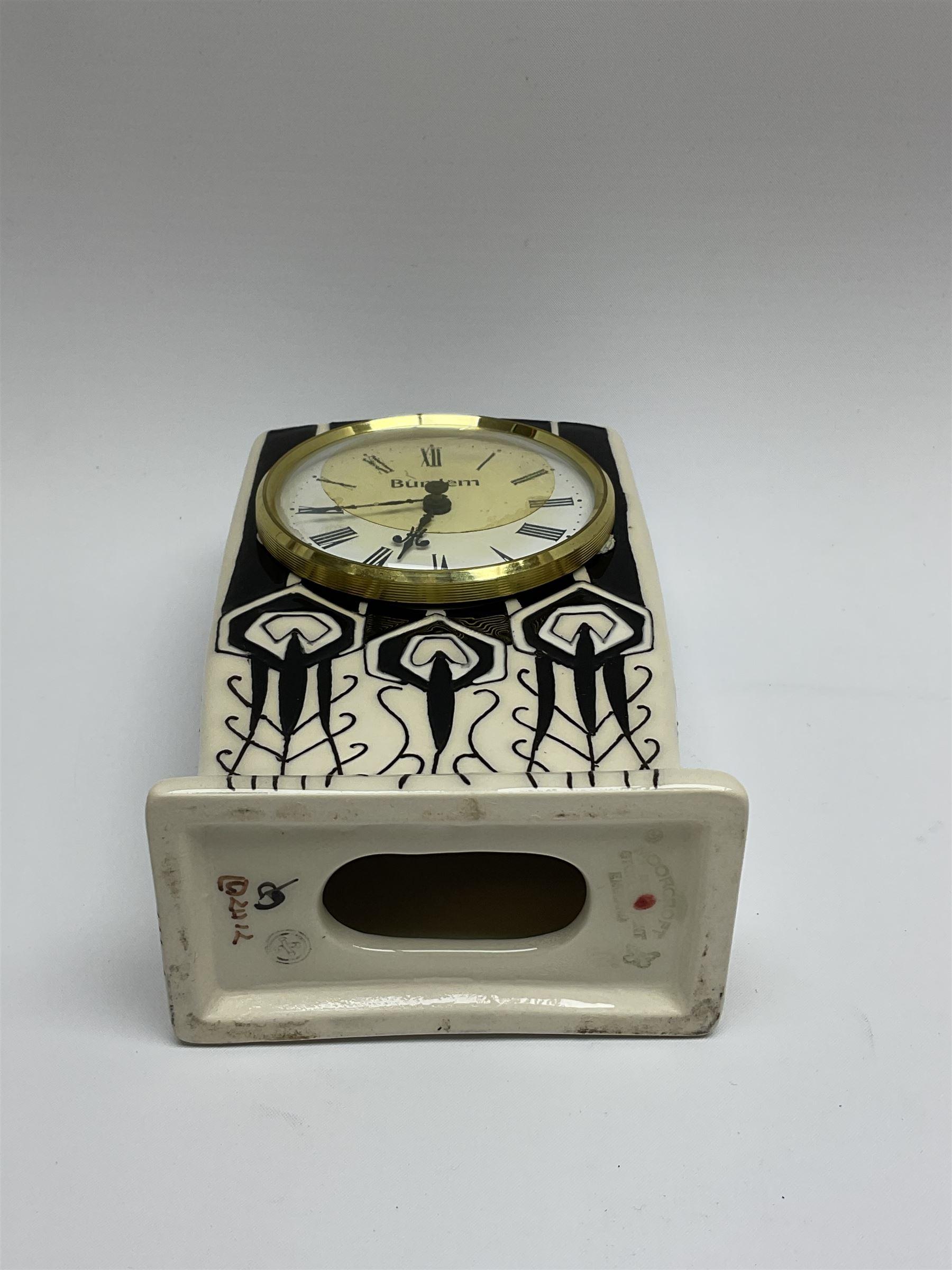 A Moorcroft mantle clock - Image 5 of 5