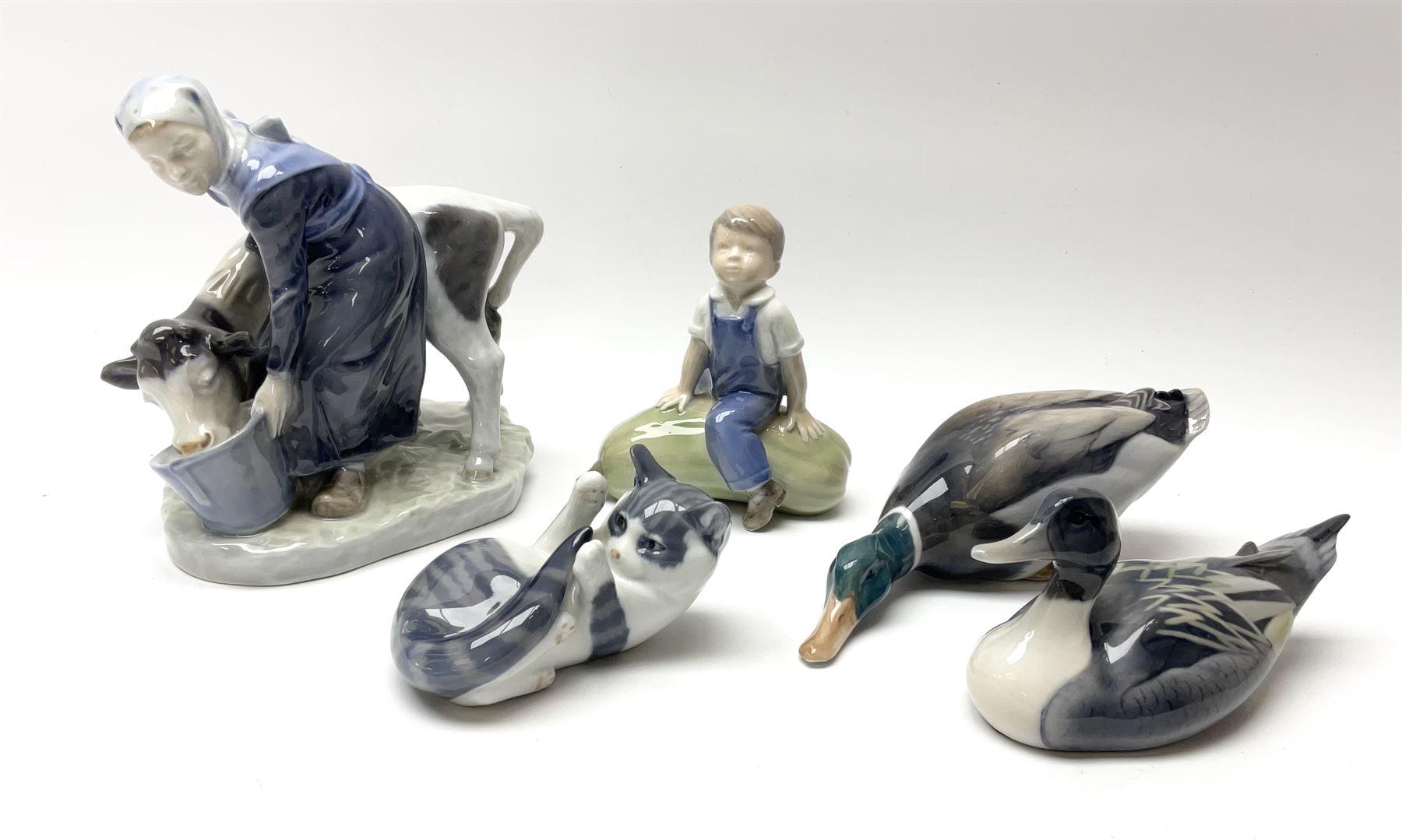 A group of Royal Copenhagen figures