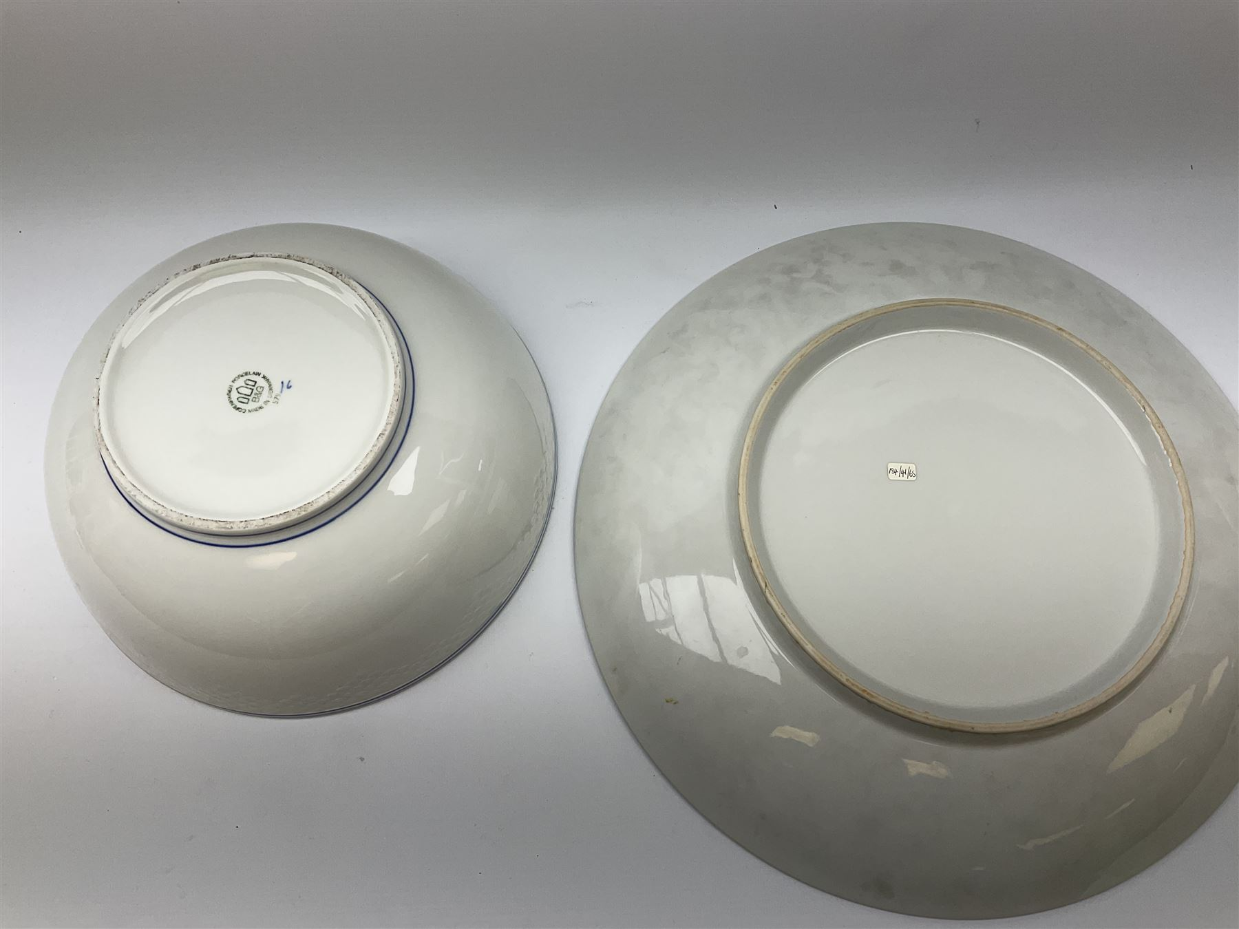 A Bing and Grondahl dish with moulded rim and blue swag decoration to the interior - Image 4 of 6