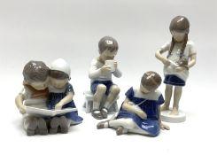 Four Bing & Grondahl figures