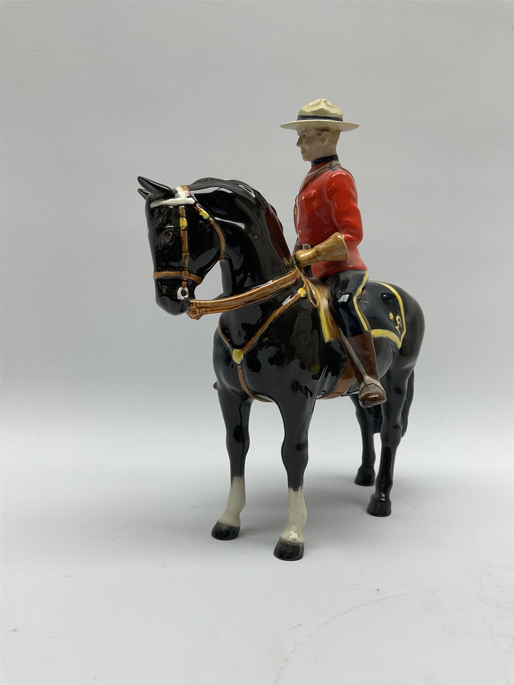 A model of a Canadian Mountie on horseback - Image 3 of 6