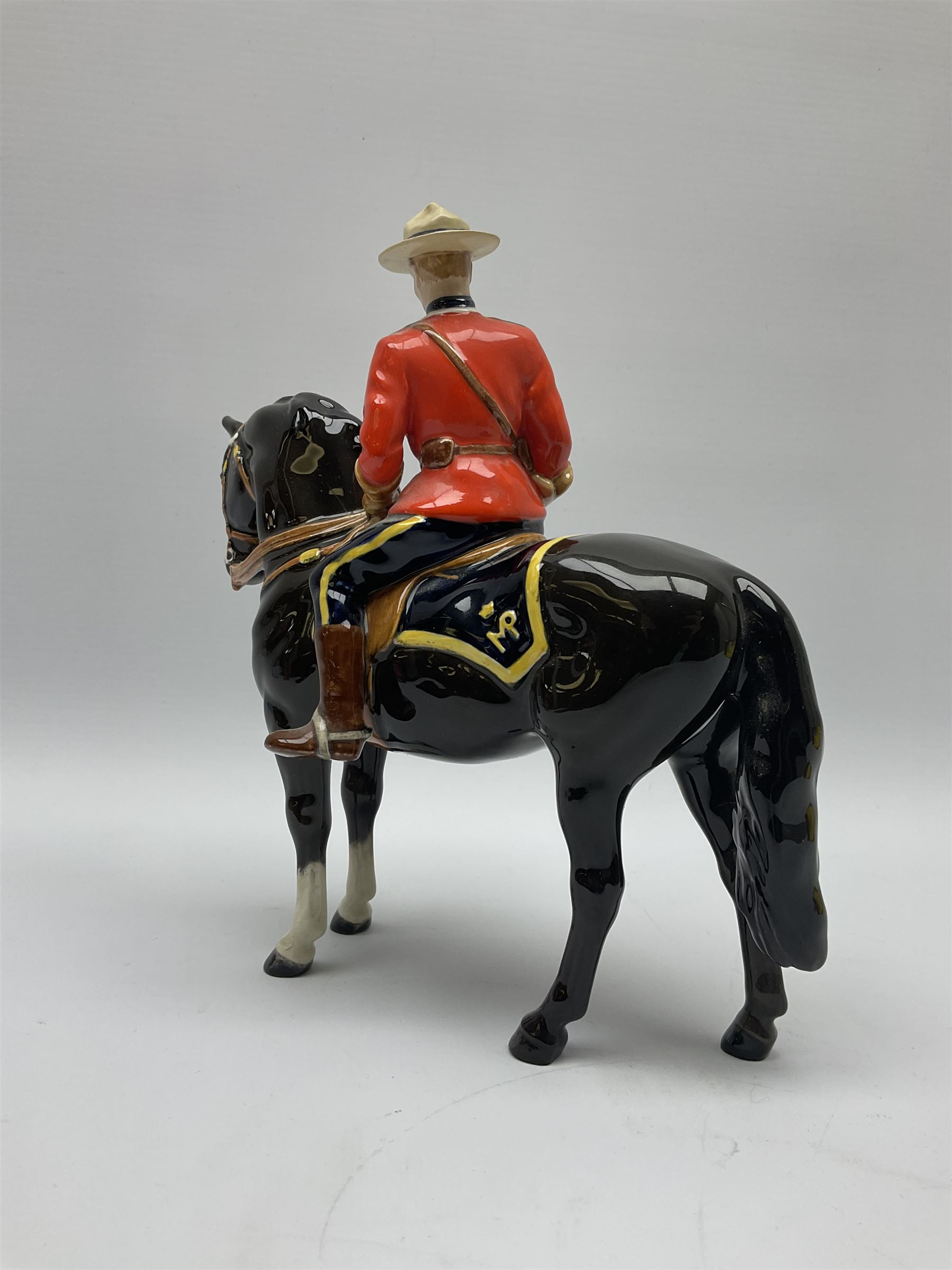 A model of a Canadian Mountie on horseback - Image 4 of 6
