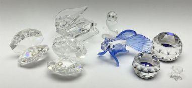 Six Swarovski crystal models