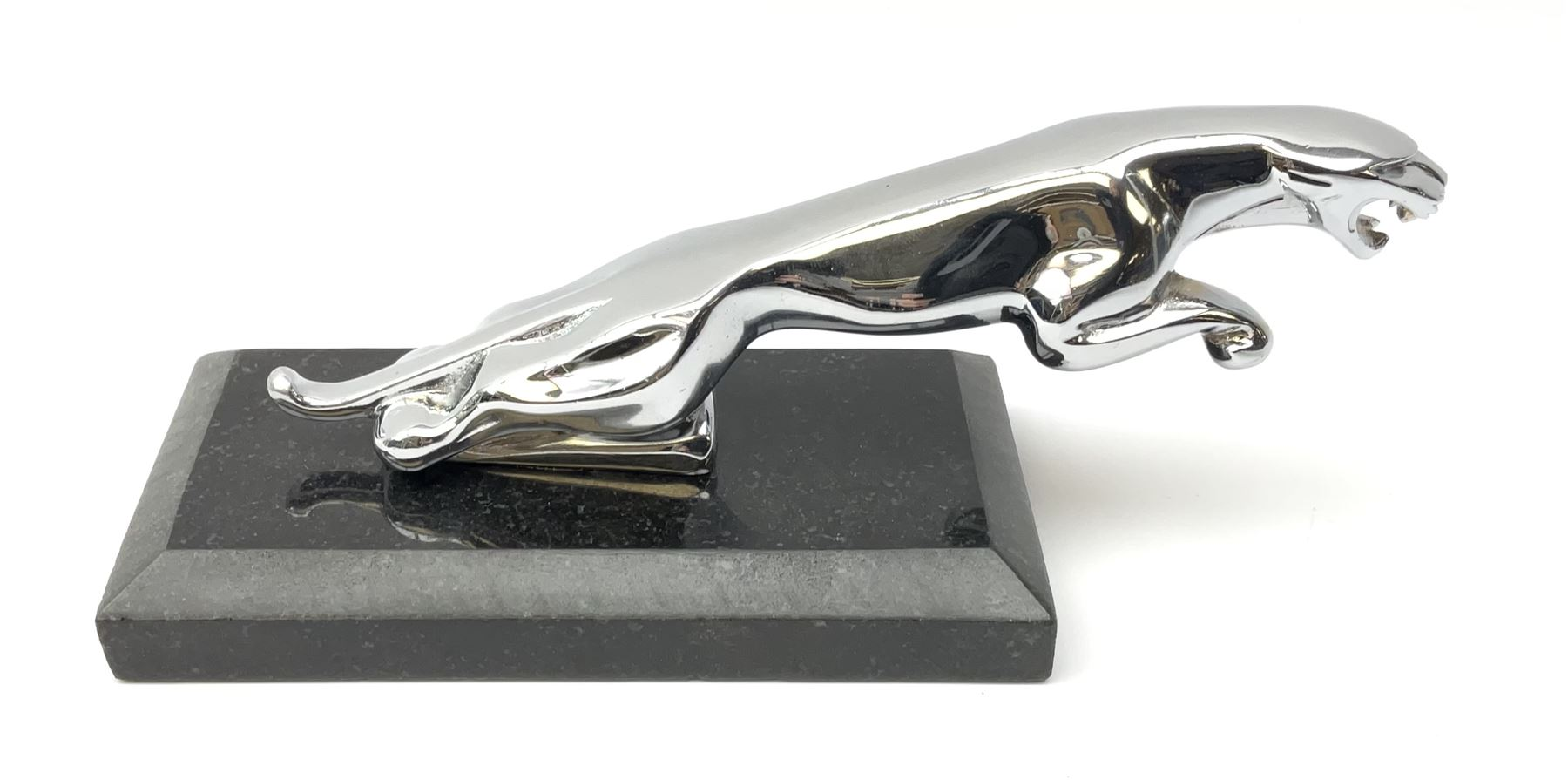 A modern Jaguar car mascot
