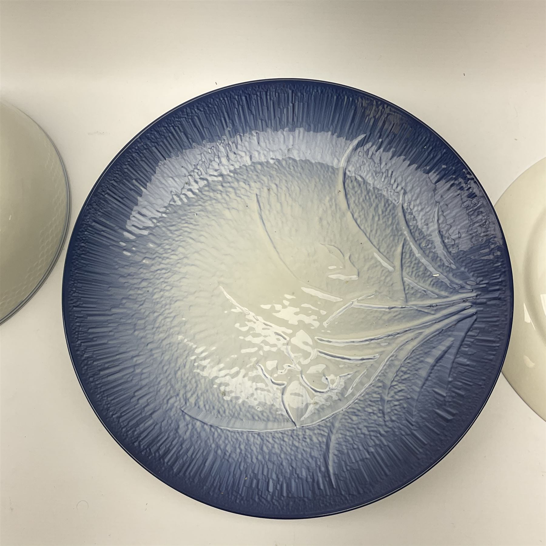 A Bing and Grondahl dish with moulded rim and blue swag decoration to the interior - Image 6 of 6