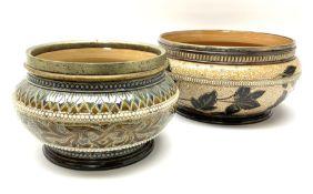 Two 19th century Doulton Lambeth bowls