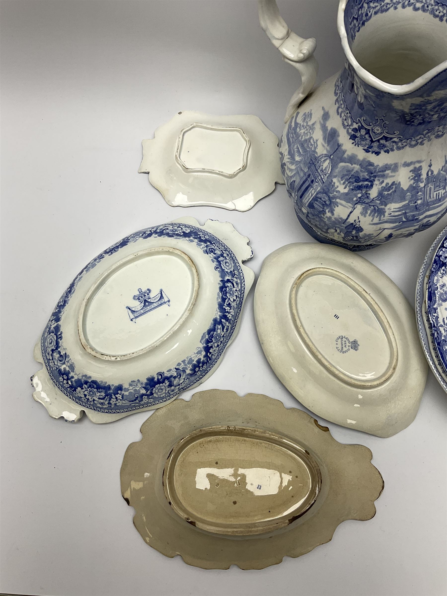 A group of 19th century blue and white transfer printed pottery - Image 6 of 7