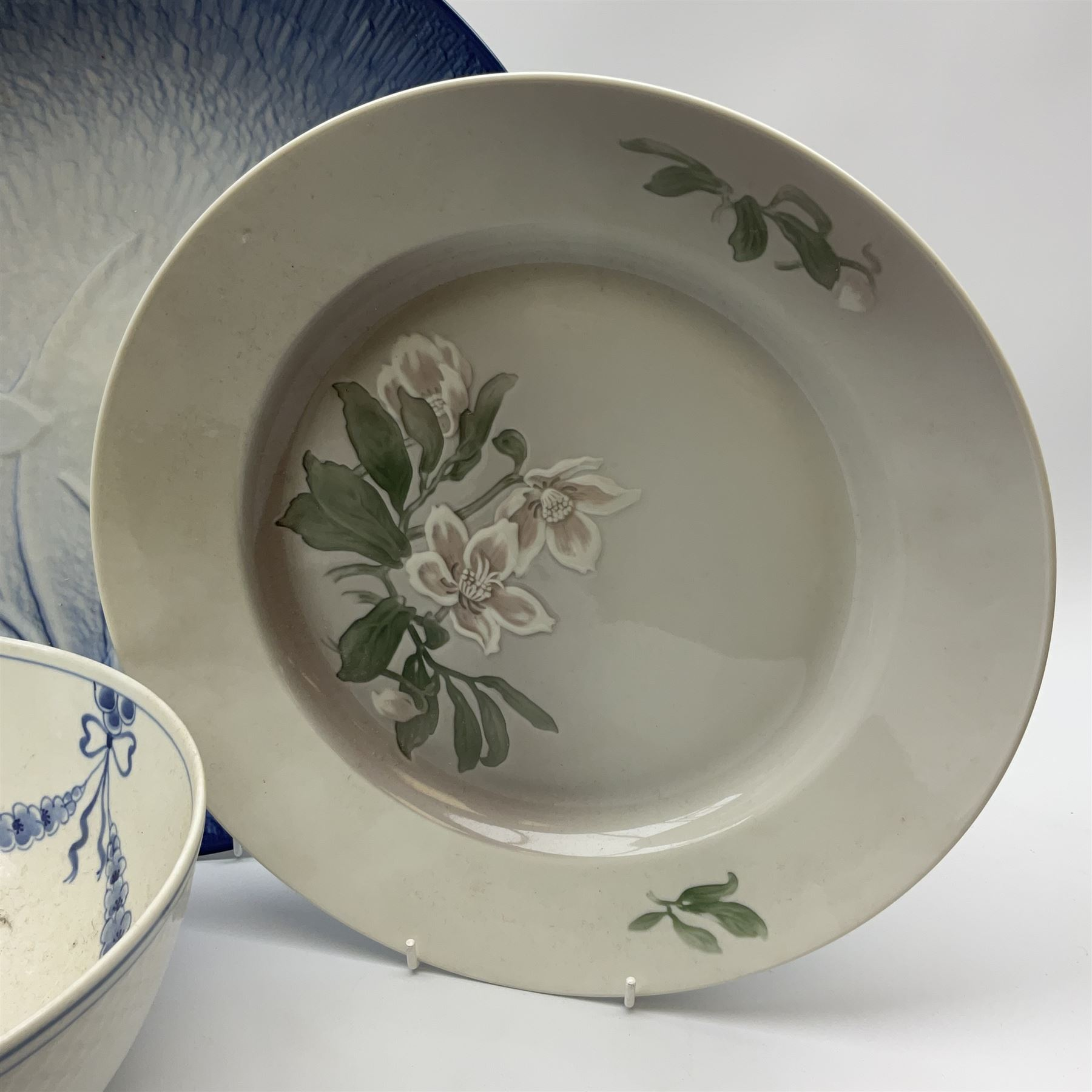 A Bing and Grondahl dish with moulded rim and blue swag decoration to the interior - Image 3 of 6