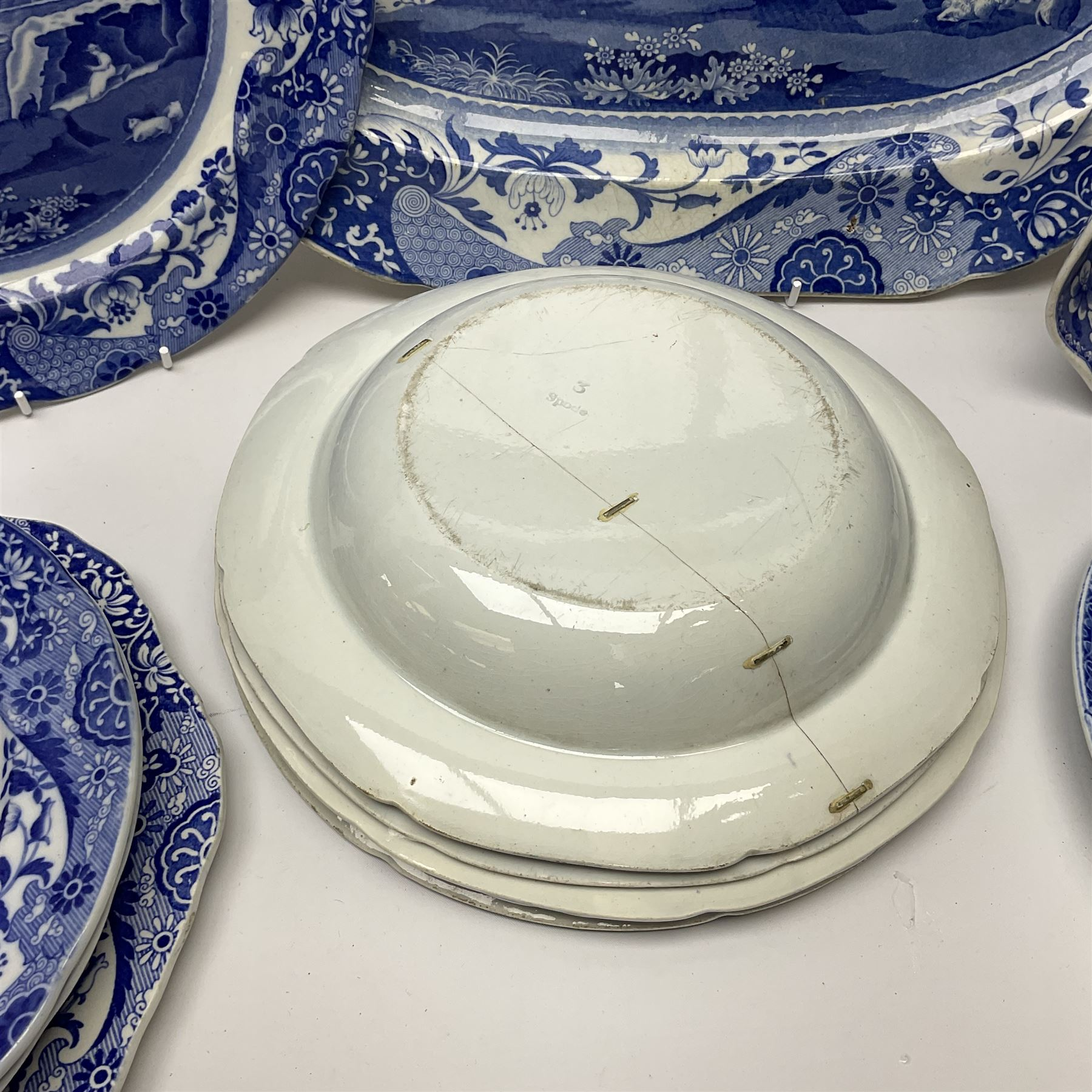 A group of 19th century Spode blue and white transfer printed pottery - Image 5 of 5