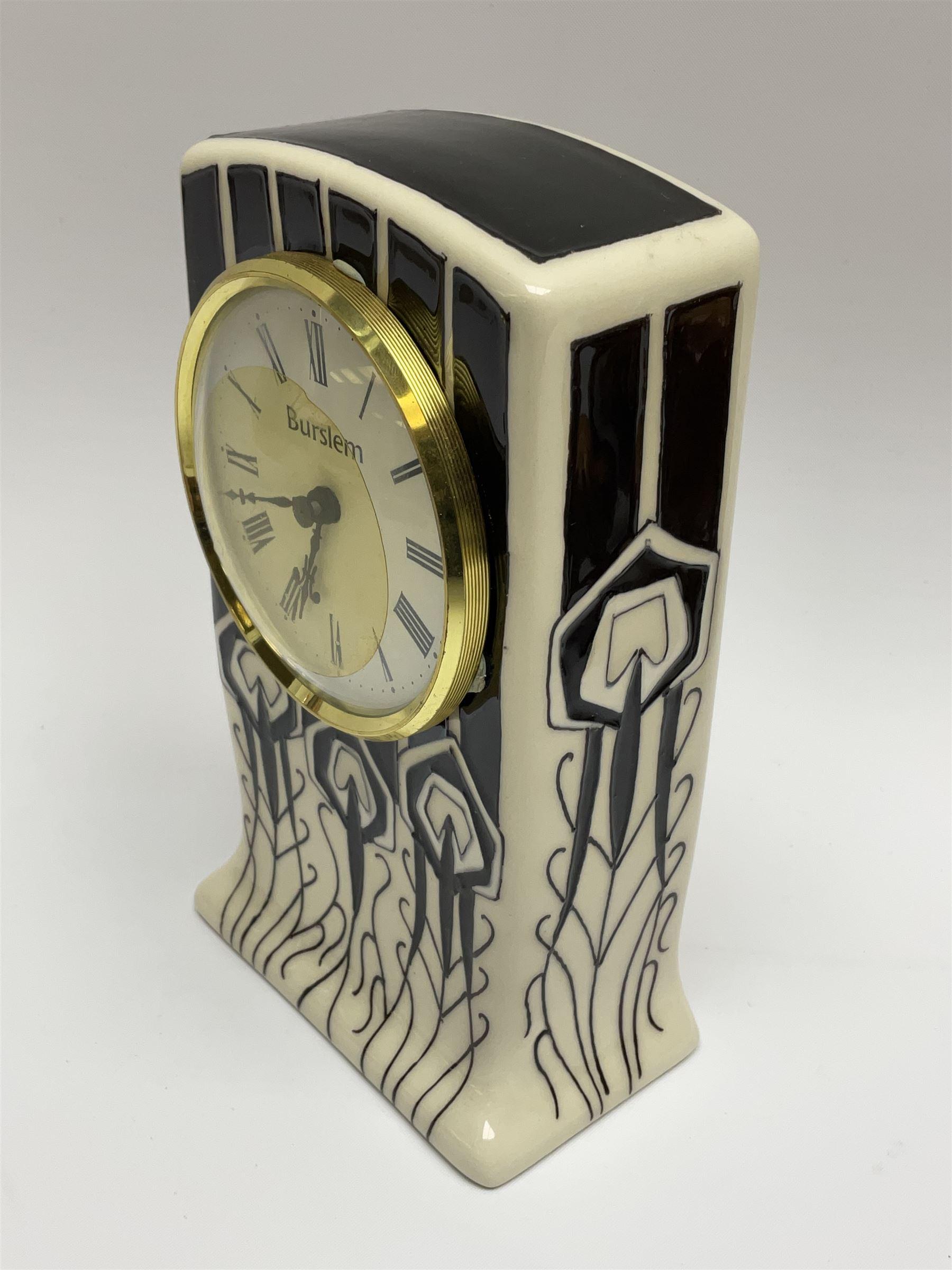 A Moorcroft mantle clock - Image 3 of 5