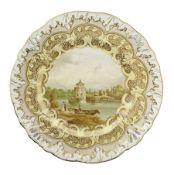 Mid 19th century cabinet plate